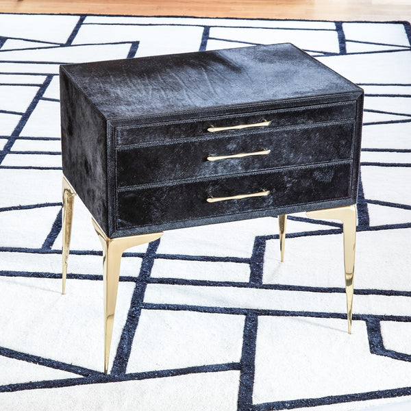 Stiletto Bedside Table in Black