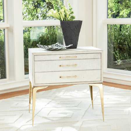 Stiletto Bedside Table in White