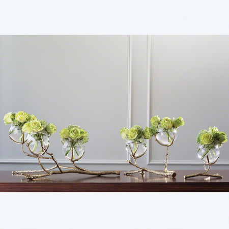 Twig 3 Vase Holder-Brass with more sizes