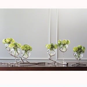 Twig 3 Vase Holder-Nickel with more sizes