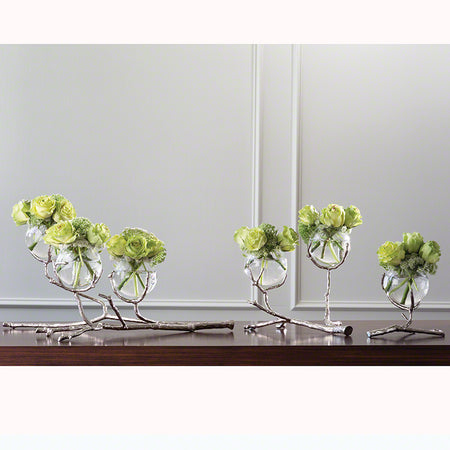 Twig 2 Vase Holder-Nickel with other sizes