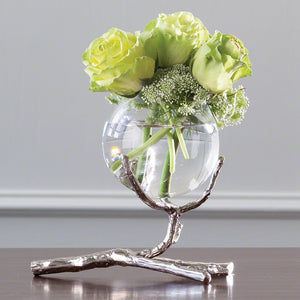 Twig Vase Holder-Nickel