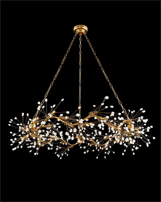 Waving Twelve Light Quartz Chandelier