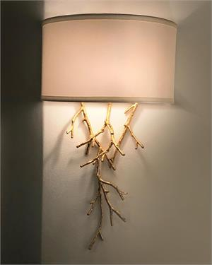 Prana: Spiked Gold Leaf Single Sconce