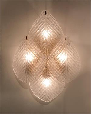 Frosted Glass Petal Wall Sconce