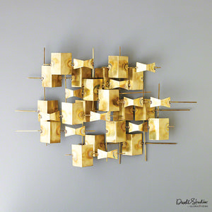 Folded Brass Wall Decor