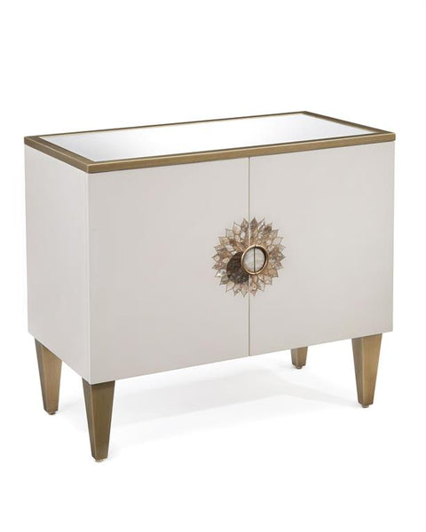 Tyrol Two Door Side Cabinet in Alabaster