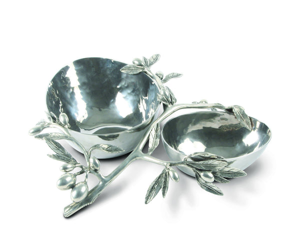 Olive Double Serving Bowl