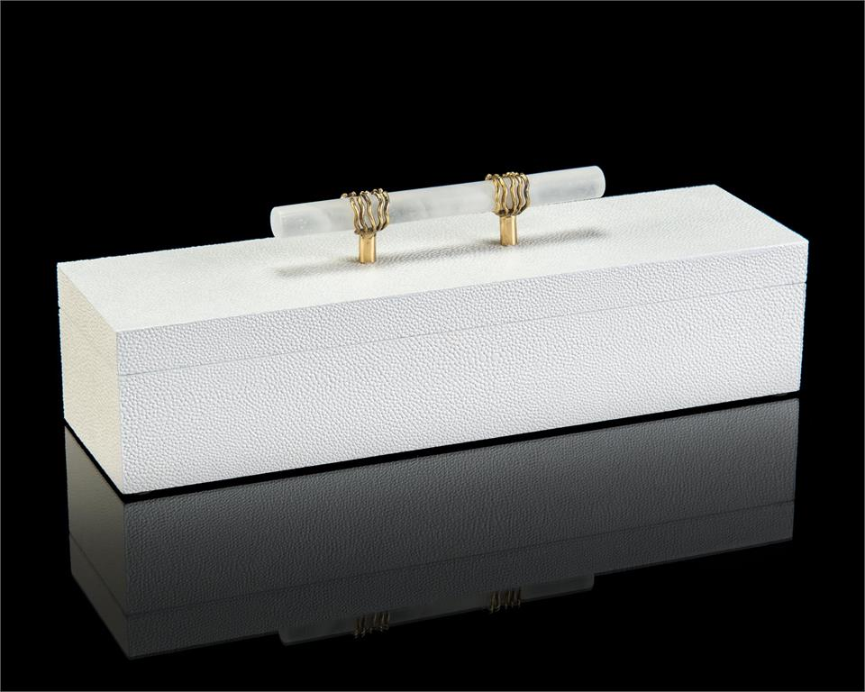 White Box with Alabaster Handles