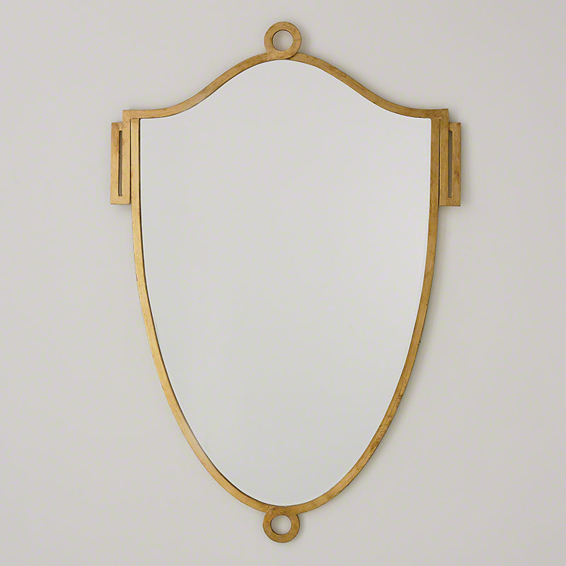 China Shield Mirror-Gold Leaf-Lg