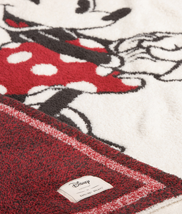 BAREFOOT DREAMS: The COZYCHIC CLASSIC DISNEY MICKEY & MINNIE MOUSE BABY BLANKET