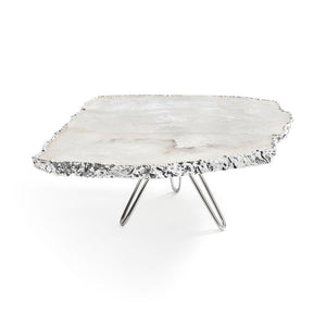 ANNA NY Torta Cake Plate Crystal & Pure Silver