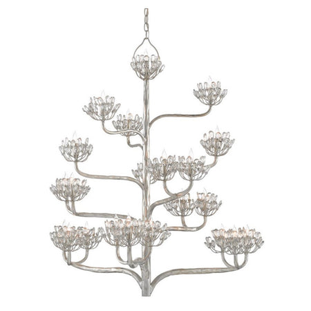 Agave Americana Chandelier Silver