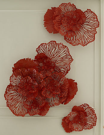 Flower Wall Art Coral