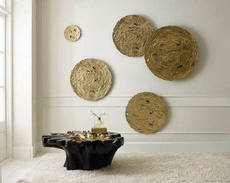 Molten Disc Wall Art Gold Leaf