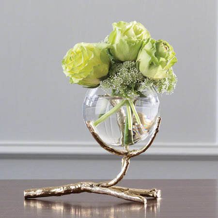 Twig Vase Holder-Brass
