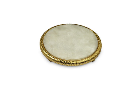 "Florentine Gold 11"" Marble Cheese Tray"