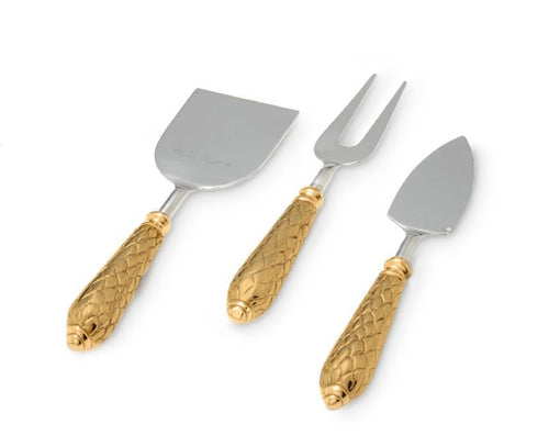 Florentine Gold Cheese Serving Set
