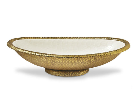 "Florentine Gold 24"" Oval Bowl"