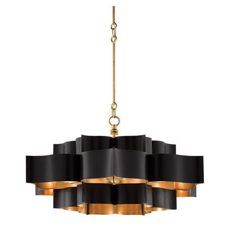 Grand Lotus Black Chandelier