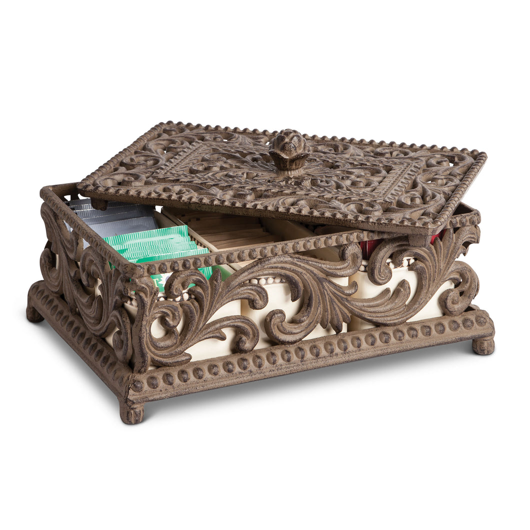Acanthus Tea Box, 5 Ceramic Ho