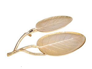 Double Gold Leaf Dish