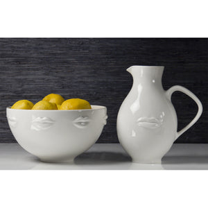 Muse Reversible White Pitcher