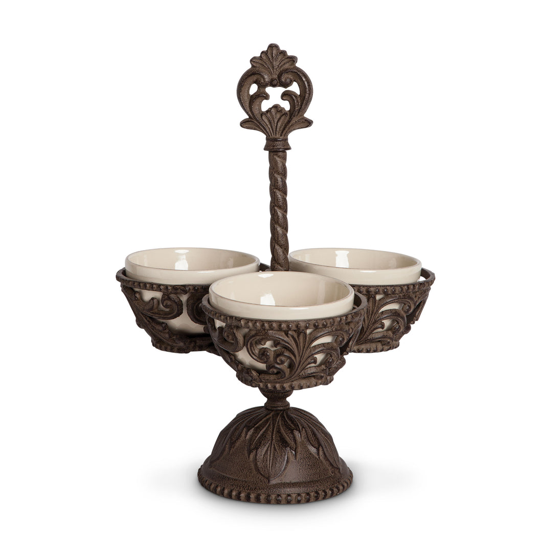 Acanthus Condiment Server, 3 B