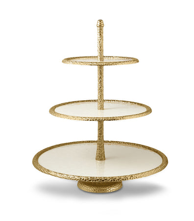 "Florentine Gold 18"" Three - Tiered Server"