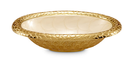 "Florentine Gold 8"" Oval Bowl"