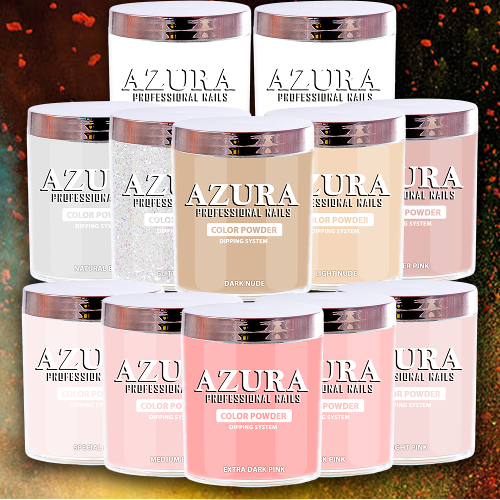 AZURA Ombre Powder 2in1 (Acylic & Dip Powder) - (16oz) - Combo 12 colors