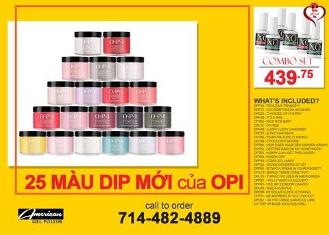 COMBO - OPI DIP Powder - 25 new colors & FREE Gifts