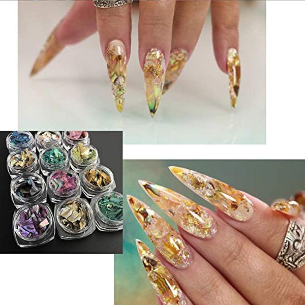 Nail Art Decals Texture Nails Sticker 3D (12 Colors/Set)