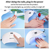 Hand and Feet UV/LED Nail Lamp - 40W (LCD Display) - White