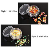 Chip Foil Nail Glitter and Ice Mylar Shell Foil Slice (24pcs)