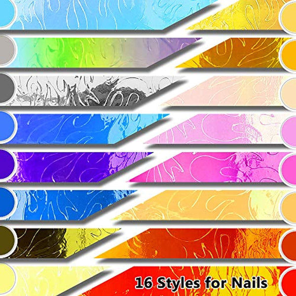 Flame Reflections Nail Stickers (16pcs)