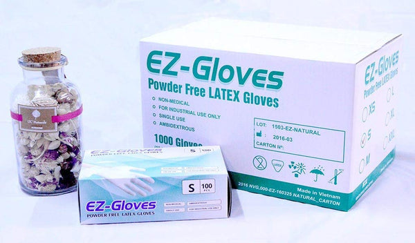 EZ Gloves (Natural Color) 100pcs / 1 box - All size