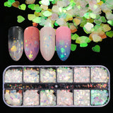 Holographic Nail Sequins Mermaid Flakes (12 Shaped)
