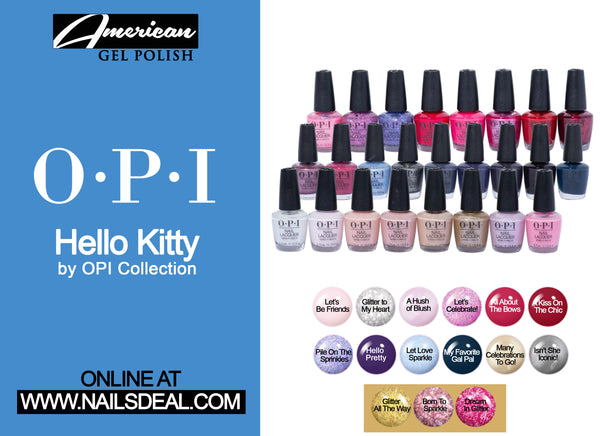OPI Hello Kitty Holiday Collection 2019 - (Combo Nail Lacquer 15 colors) (0.5oz/15ml)