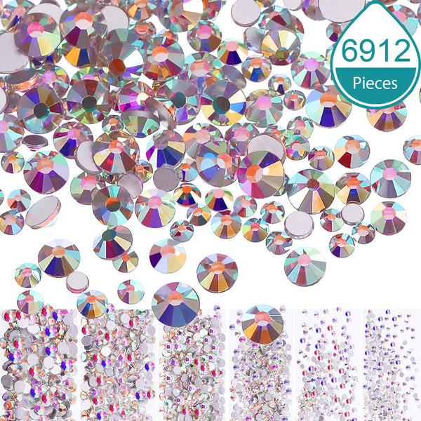 Crystal AB, Mixed All Size by packs (3,456pcs)