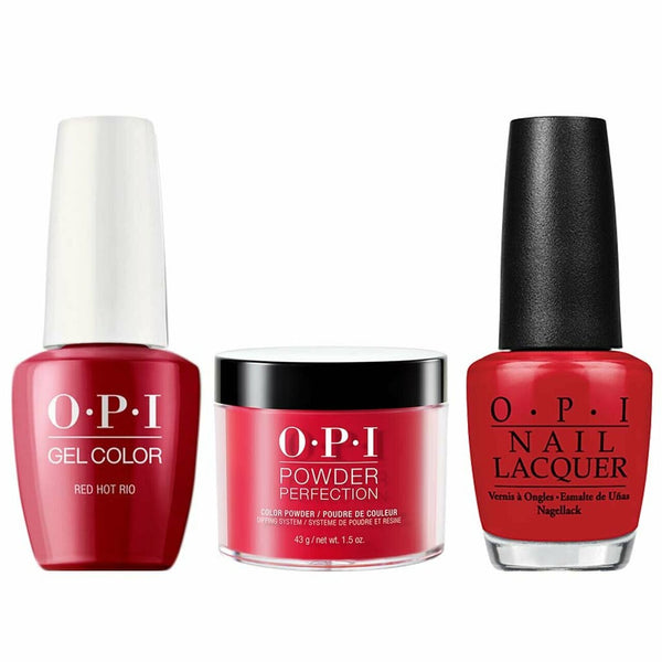 OPI 3IN1 - A70 - RED HOT RIO (Gel, Lacquer, Dip Powder)