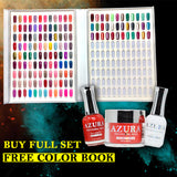 AZURA (4in1) - Dip & Dap Powder (2in1), Lacquer & Gel Colors Matching - (146 colors)