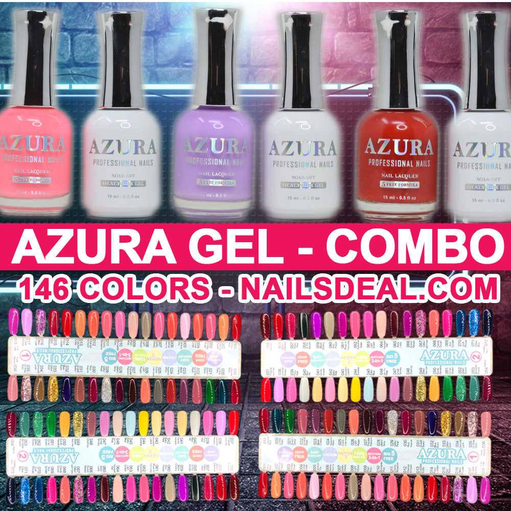AZURA Gel Combo - (1 to 146) - Free color chart