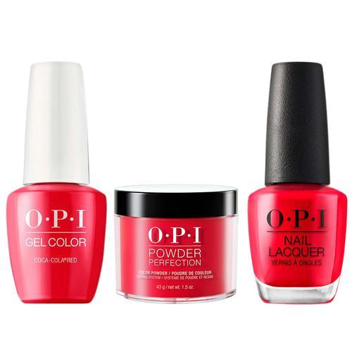 OPI 3IN1 - C13 - COCA-COLA RED (Gel, Lacquer, Dip Powder)