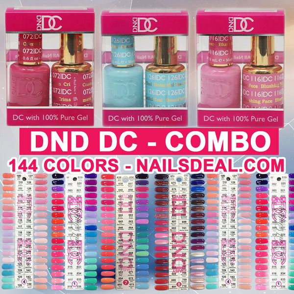 DC Gel Combo - 144 colors (1 - 144) - Free DC Color chart