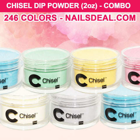 CHISEL Dip Powder (2oz) - COMBO - 246 colors