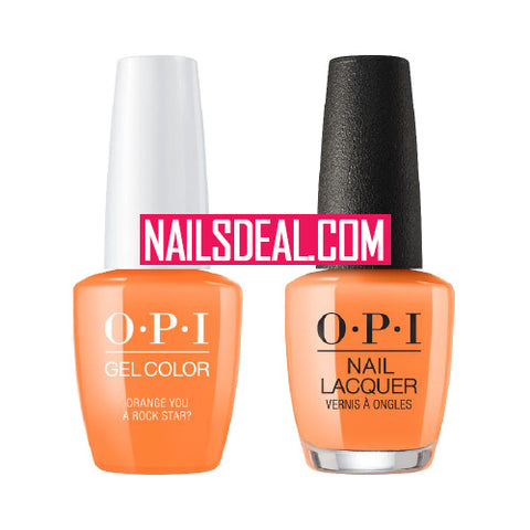 OPI Duo (Gel & Lacquer) - Orange You a Rock Star? (N71)