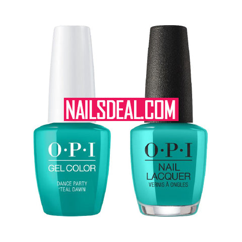 OPI Duo (Gel & Lacquer) - Dance Party Teal Dawn (N74)