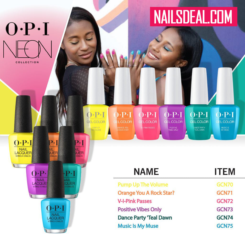Opi Matching Duo Neon Summer Collection 2019 6 Colors Nails Deal Amp Beauty Supply