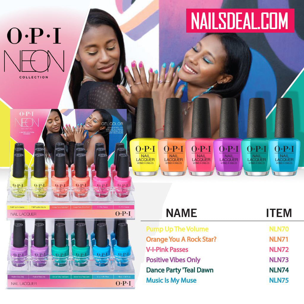 Opi Nail Lacquer Neon Summer Collection 2019 6 Colors Nails Deal Amp Beauty Supply